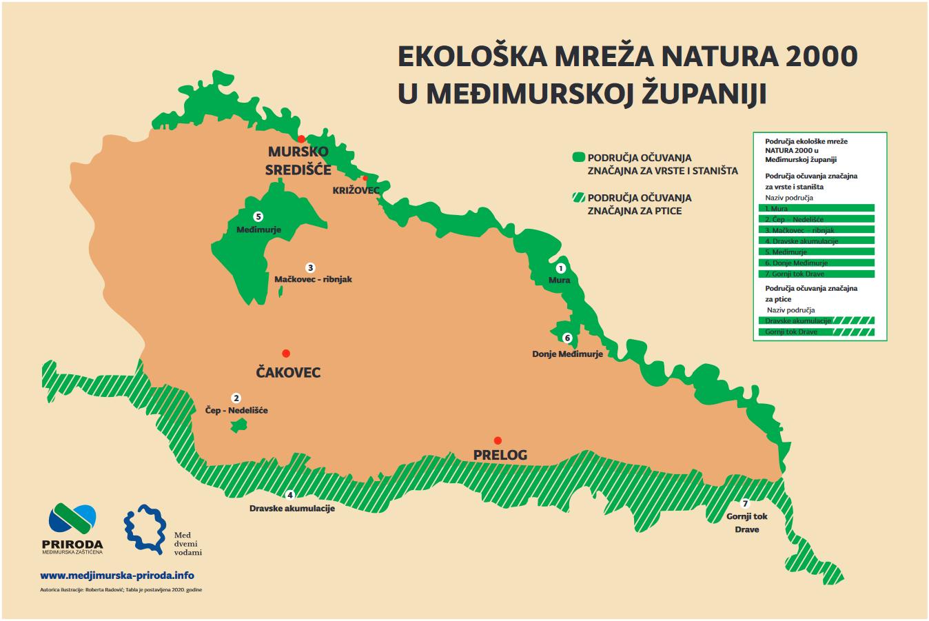 karta Ekološka mreža NATURA 2000 u MŽ cdr - karta Ekološka mreža NATURA 2000 u MŽ